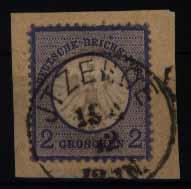 Deutsches Reich Briefstück Brustschild Nr. 5 mit schönem K1 Itzehoe 15.4.1872