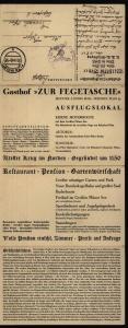 Ansichtskarte Plön Gasthof Zur Fegetasche L. Boll selt. Leporello als Feldpost