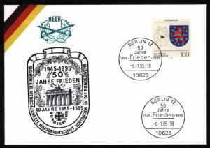 Bund Brief Bundeswehr Motiv Frieden + Brandenburger Tor mit SST Berlin 1995