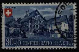 Schweiz 463 Höchstwert 30+10C Pro Partia 1945 Landhäuser gestempelt