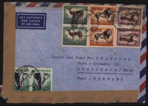 Südafrika Brief MIF+ Aufkleber Motiv Post Postgeschichte Capetown nach Steinheim