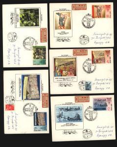 UDSSR Sowjetunion 5 Stück R- Brief Motiv Post Postgeschichte Postautomation