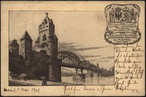 Ansichtskarte Mainz Einweihung Neue Eisenbahnbrücke 1. Mai 1904 Rheinland-Pfalz