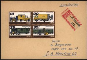 DDR R - Brief 2299-2302 Zusammendruck Präge - Motiv Post Wernigerode München