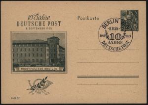 DDR Brief Ganzsache P 66 SST 10 Jahre DDR Post  Motiv Post Wernigerode 8.9.1955