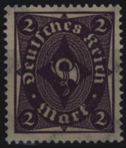 Deutsches Reich 224b Posthorn 2 M 1922 geprüft INFLA sauber ungebraucht *