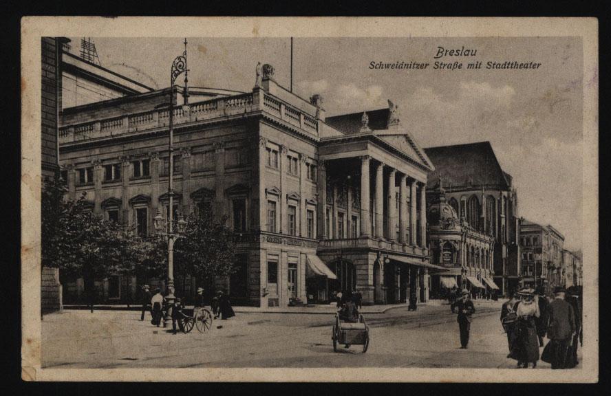 Ansichtskarte Breslau mit L2 K.u.K Militär-Zensur Troppau n. Leipzig 28.7.1915  0
