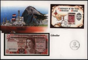 Geldschein Banknote Banknotenbrief Gibraltar Schein 1 Pound 1983