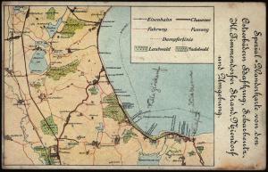 Ansichtskarte Spezial - Wanderkarte Ostsee Landkarte Kartografie mit Niendorf