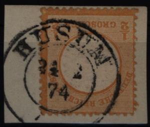 Deutsches Reich Luxus-Briefstück 18 1/2 Gr. gr. Brustschild m. schönem K2 Husum