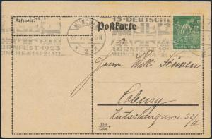 Dt. Reich Brief Postkarte EF 244 Sonder-Werbestempel 13. Turnfest München Sport