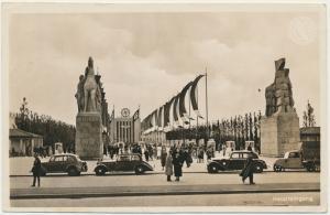 3. Reich Propaganda Ansichtskarte Reichsausstellung Düsseldorf  SST Auto