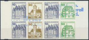 Bundesrepublik Markenheftchen MH 22 ab K3 oZ Burgen & Schlösser 1980 postfrisch