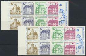 Bundesrepublik Markenheftchen MH 23 a-e Burgen & Schlösser 1980 alle 5 Typen **