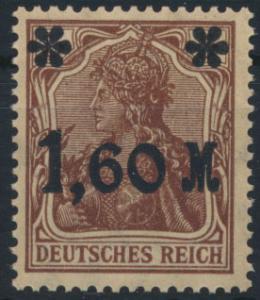 Deutsches Reich 154 I b Aufdruckmarke 1,60M Germania 1921 ungebraucht Kat. 80,00