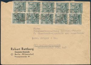 All. Besetzung Brief Zehnfachfrankatur 946 Geschäftsbrief Berlin Wilmersdorf