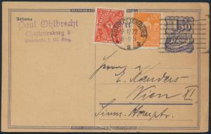 Deutsches Reich Infla Ganzsache Postreiter P 148a ZuF 169 172 Posthorn Arbeiter