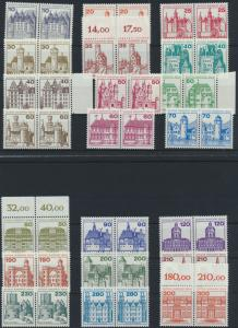 Berlin Burgen & Schlösser kompl. Luxus im Paar 1977-1982 postfrisch 21 Werte