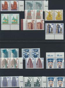Berlin Sehenswürdigkeiten Luxus Paar tadellos postfrisch MNH kpl. 15 Wt. 82,00