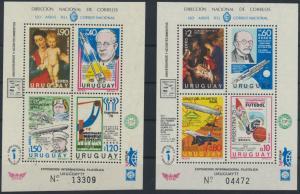 Uruguay Block 33 + 34 1977 Exposicion International Filatelica postfrisch
