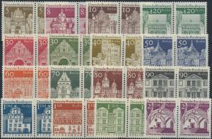 Berlin Bauwerke II 270-285 Luxus komplett im Paar tadellos postfrisch 16 Werte