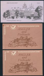 2x DDR Markenheftchen 8-10 Sophilex, Angler, Bauwerke 1985-1990 postfrisch **