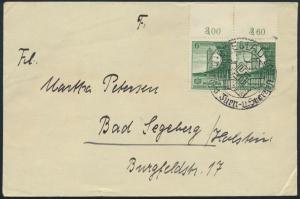 Dt. Reich Brief 666 MEF Oberrand-Paar SST Breslau Turn-u. Sportfest n Segeberg