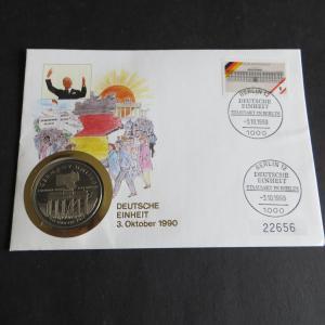 Bundesrepublik Numisbrief Tag der Deutschen Einheit 5 Dollar Marshall Inseln
