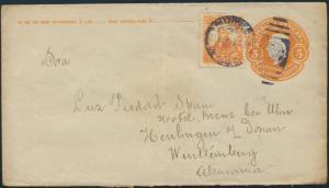 Mexico Ganzsache Umschlag U 61 I 5c. orange mit ZuF 5c orange