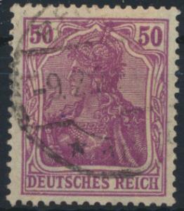 Deutsches Reich 146 I 50 Pf Germania gestempelt Altprüfung
