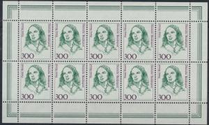 Bund Kleinbogen 1433 300 Pfennig Frauen der Geschichte postfrisch 1989