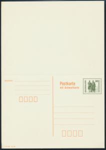 DDR Ganzsache P 108 Goethe Schiller Frage/Antwort ungefaltet tadellos