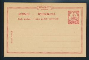 Deutsche Kolonien Karolinen Ganzsache P 8 Ausgabe 1901 ungebraucht