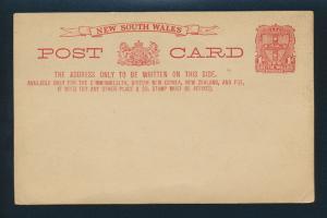 New South Wales Ganzsache 1 d. P 21 a Ausgabe 1887 ungebraucht