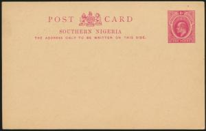 Africa Southern Nigeria Ganzsache P2 1 d. King Eduard postal stationery