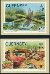 Guernsey 6 Künstlerkarten 100 Jahre La Societe Guernesiaise Ersttagsstempel