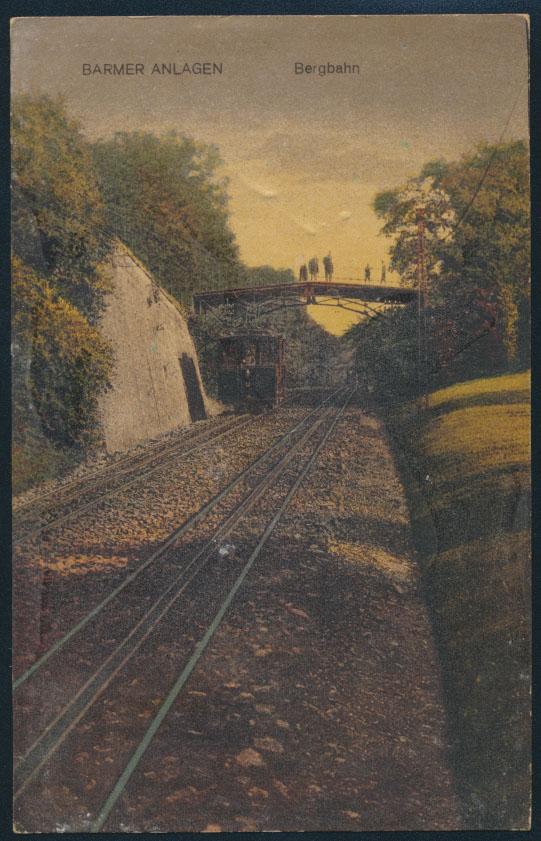 Ansichtskarte Barmen Zug Eisenbahn bzw. Bergbahn 1919 nach den Niederlanden 0