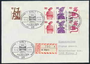 Bund R-Brief Unfall Zusammendruck SST Kiel Holsteinische Großausstellung Wissen