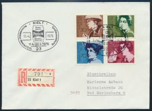 Bund R-Brief Frauen 826-829 SST Kiel Holsteinische Großausstellung n. Marienburg