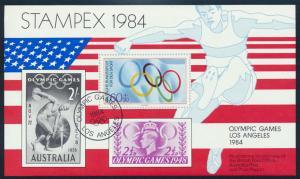 Stampex 1984 Olympische Spiele Los Angeles Vignette