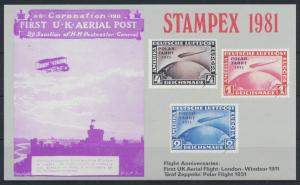 Flugpost Zeppelin Stampex Flight Anniversaries First UK Flight Polar Flight