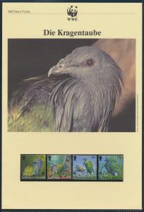 WWF Salomon Inseln 835-838 Tiere Vögel Die Kragentaube kpl. Kapitel besteh