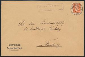 Deutsches Reich EF Hindenburg Landpoststempel Ausackerholz Flensburg 10.3.1932