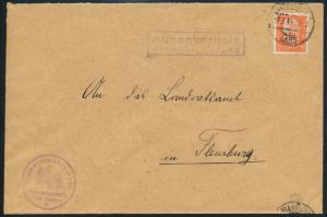 Deutsches Reich EF Hindenburg Landpoststempel Ausackerholz Flensburg 8.3.1932