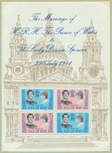 Isle of Man Block 5 Hochzeit von Prinz Charles und Diana Spencer postfrisch