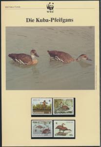 WWF Bahamas 672-675 Tiere Vögel Pfeifgans kpl. Kapitel bestehend