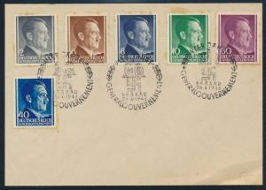 Generalgouvernement  ex. 71-81 als FDC mit Propaganda-St. 4 Jahre GG. Schlesien