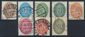 Deutsches Reich Dienstmarken ex. 114-127 gestempelt 1927/32