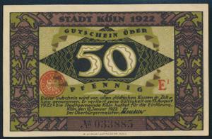 Geldschein Banknote Stadt Köln 717.2c Die Heinzelmännchen von Köln 1922 UNC