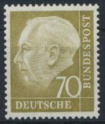 Bund 191 70 Pfg. Heuss Luxus postfrisch MNH Kat.-Wert 18,00
